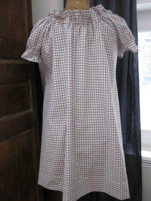 Robe ALBANE en coton vichy fris et écru (1)