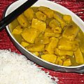 Curry de seiches au citron et lait de coco