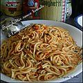 Spaghettis en sauce tomate à l'algèrienne ( façon belle maman )