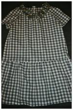 robe taille basse en vichy détail