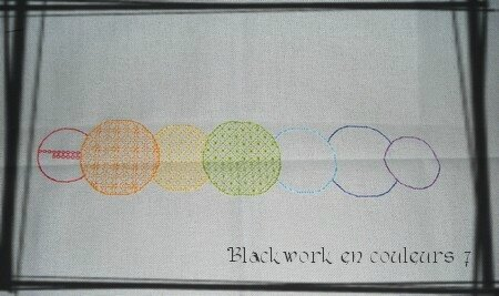 Blackwork en couleurs 7 ensemble