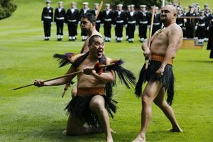 Welcoming Haka for Leon Panetta