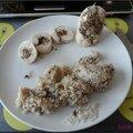 Ballotine de poulet aux champignons
