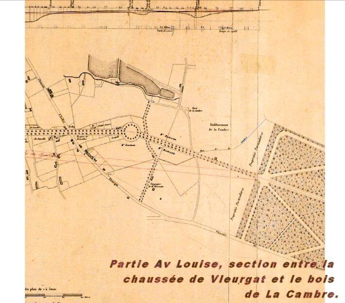 avenue Louise plan De Joncker Carez 1859