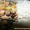 Poêlée de chou chinois, champignons et lardons (cookeo)