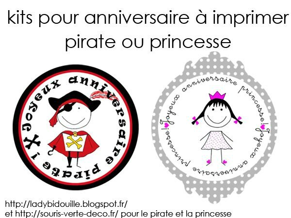 Super Kit anniversaire pour Pirate ou Princesse - Alice Chouquette TL92