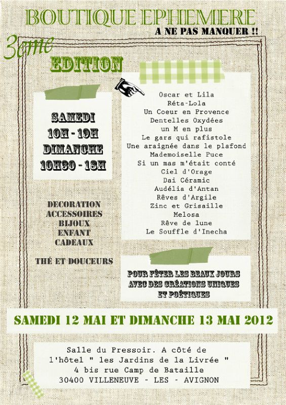 Affiche Boutique phmre