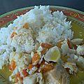 Cabillaud et saumon mijotés au lait de coco