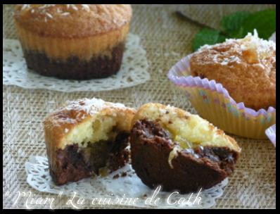 """ღ"""" MIAM """" Gâteaux chocolat-Coco et confiture d'ananas"""