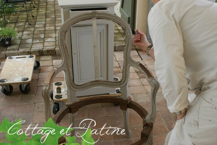 Formation professionnelle Cottage et Patine à l'atelier (43)