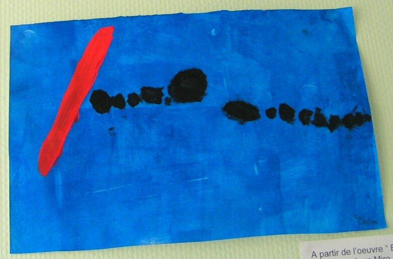 190_Composition abstraite_A la manière de Bleu II de Miro (2c)