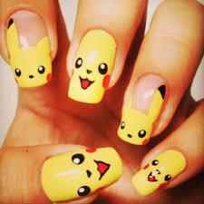 """Résultat de recherche d'images pour """"nail art pikachu"""""""