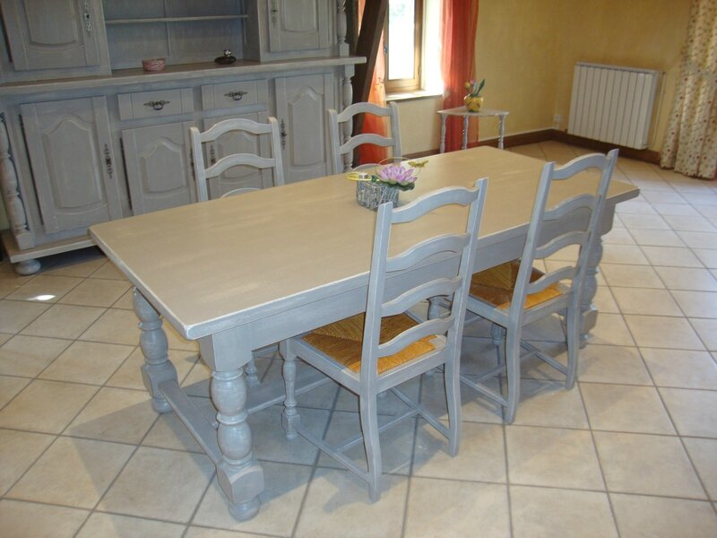 Buffet table gu ridons relook s kr ative d co - Deco de table campagnarde ...