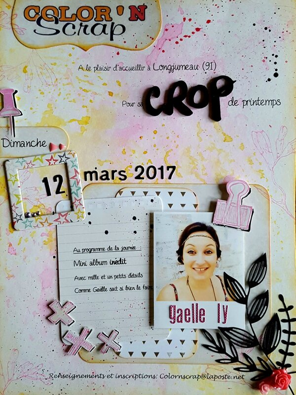 AFFICHE CROP Gaelle LY