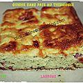 Quiche sans pâte au thermomix (courgette chevre lardons)