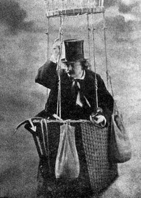 Nadar en ballon vers 1855