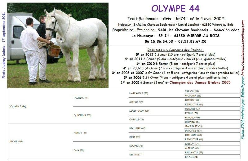 Fiche OLYMPE 44 2014