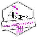 4ème anniversaire 4enscrap - couleur et scrap