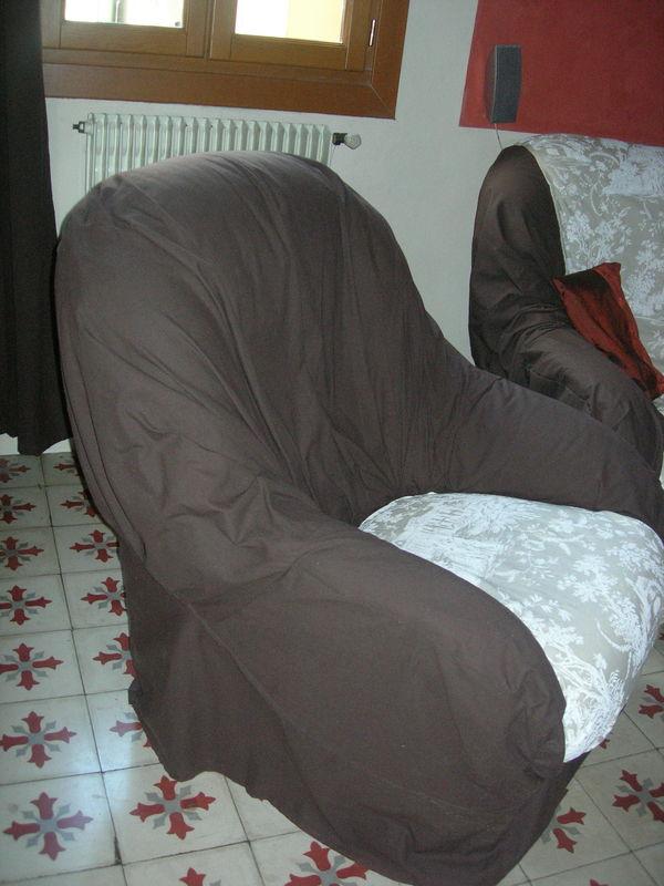 Housse de fauteuil et canap 3 photo de couture chez kako for Housse de canape et fauteuil