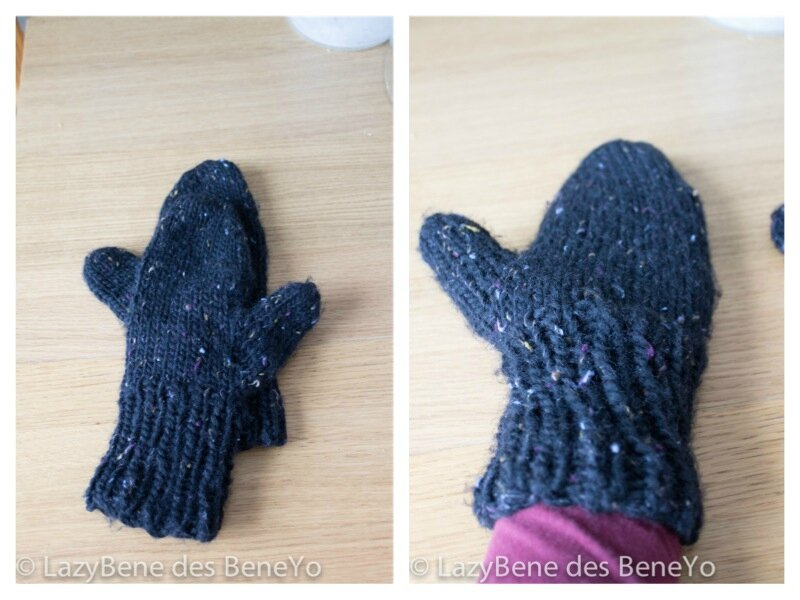 Thick Quick Mittens chunky noir