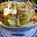 Bo bùn chou chinois et poulet