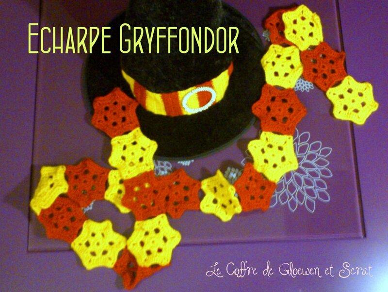 Une écharpe Gryffondor au crochet (1)