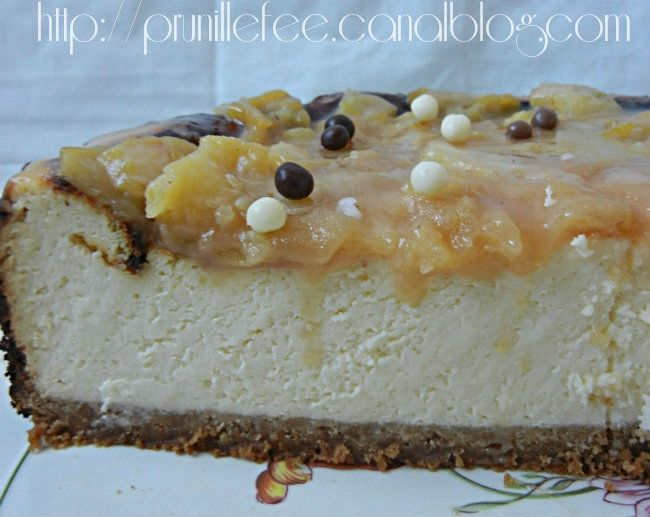 tranche cheesecake caramel prunillefee
