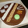Croustillant pralinoise et sa mousse au chocolat