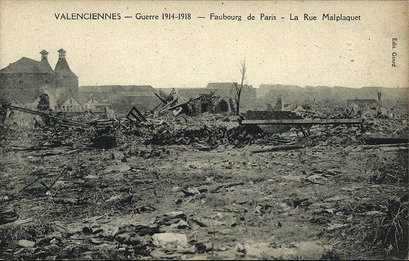 Rue Malplaquet, faubourg de Paris, 1918