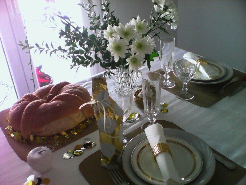table noel 2016 pain et fleurs