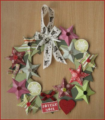 Couronne de no l le scrap d 39 evelyne for Decoration de noel fait main