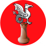 Logo fond rouge