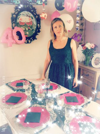 glam chic 40th birthday party anniversaire 40 ans un. Black Bedroom Furniture Sets. Home Design Ideas
