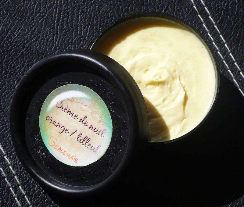 Crème de nuit orange / tilleul