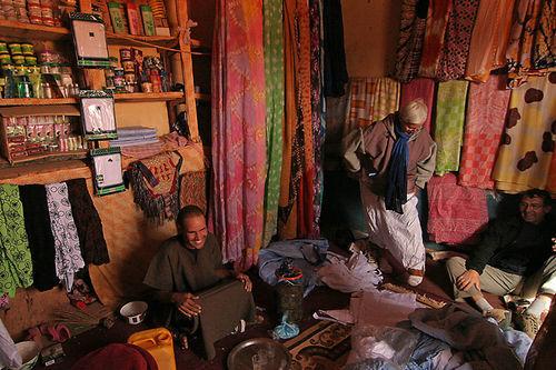 vendeur de tissue a Chinguetti