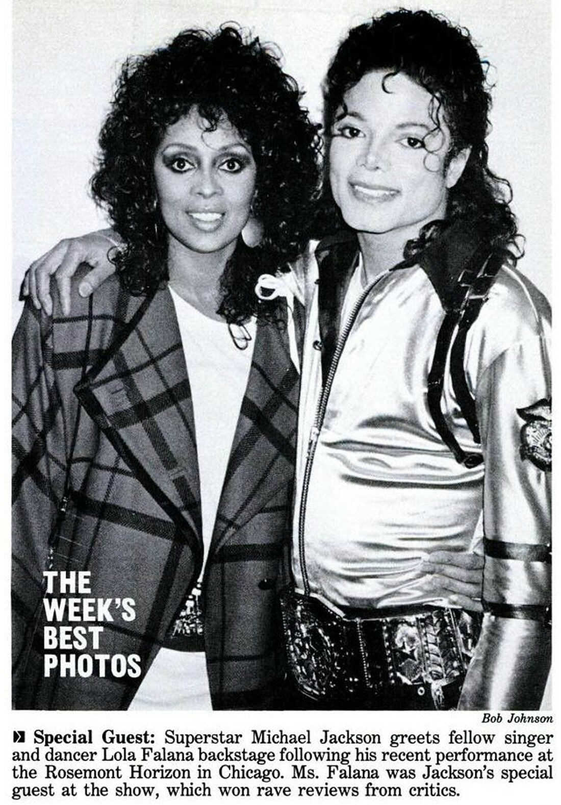 Images Of Lola Falana Delightful michael jackson shares chicago honor with his guest, lola falana