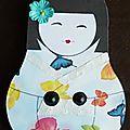 Bloc post-it geisha papillons - 17 fév 15