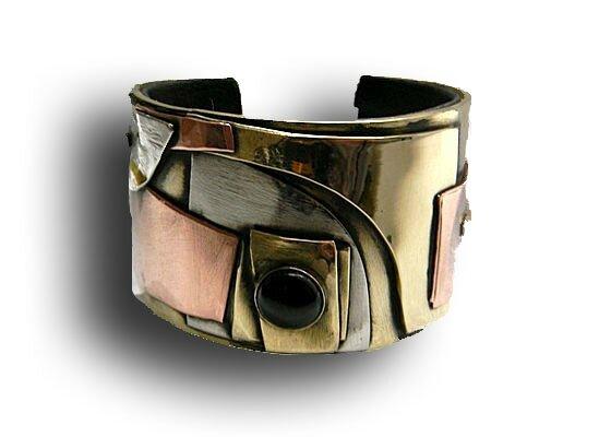 bracelet empilage de metaux onyx copie
