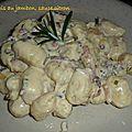 Gnocchi au jambon et sauce citron
