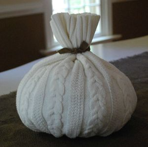 cream fall sweater pumpkin