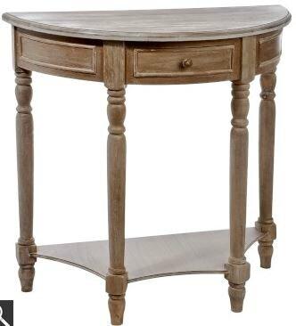 Console en bois c rus meubles et d coration amadeus au - Meuble demi lune bois ...