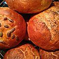 Petits pains pour burgers et sandwiches 12p