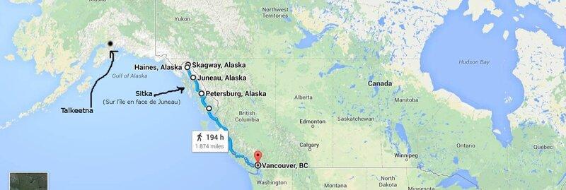 Itinéraire Alaska