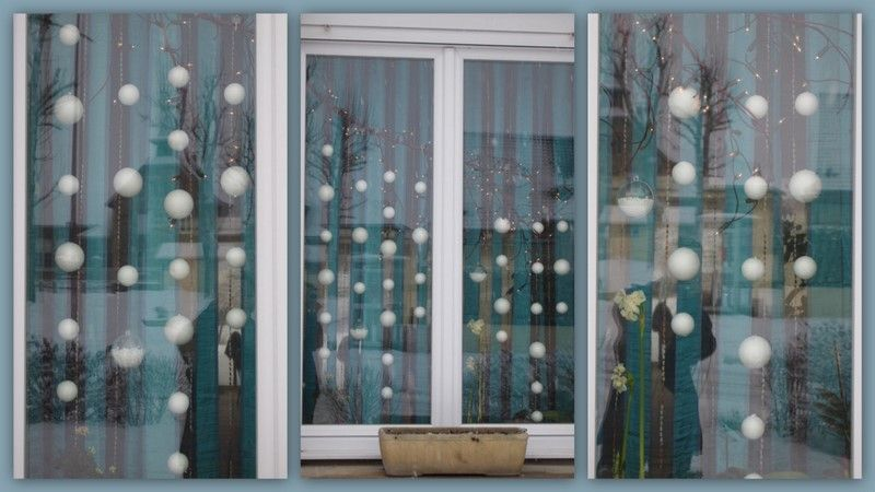 Deco fenetre for Decoration fenetre noel diy