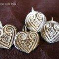 BO 5 et 8 : coeur et ronde Andalou, gris-blanc - 22,00 -