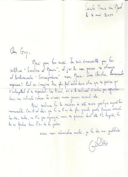 Lettre Gilles