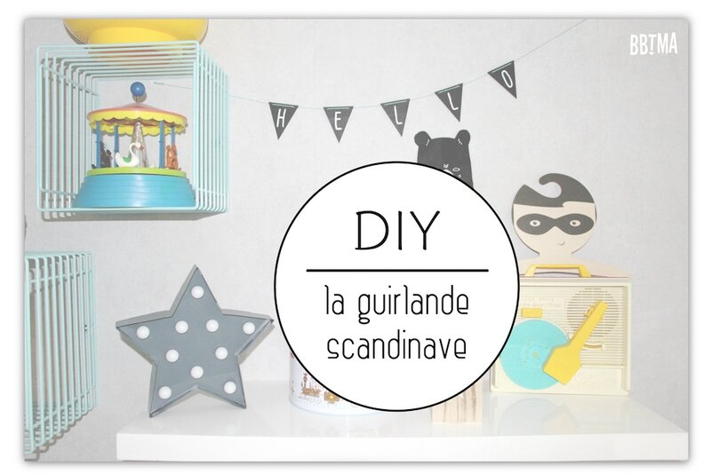 DIY guirlande triangle bois esprit design scandinave tuto tutoriel by BBTMA le blog 6