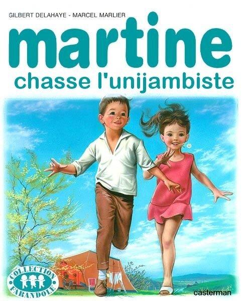 Martine chasse l'unijambiste (récupérée sur le site)