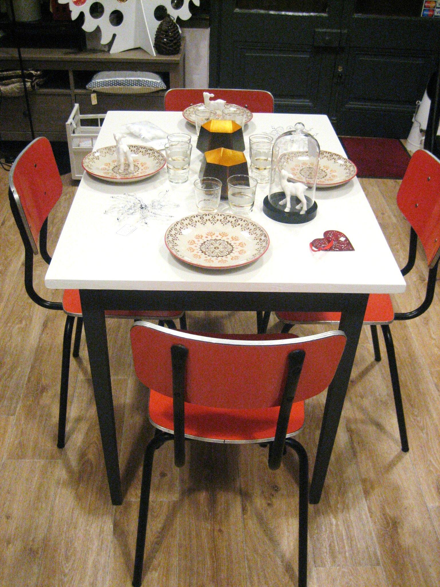 Table de cuisine d 39 appoint lilicabane - Table d appoint cuisine ...
