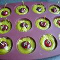Bouchées pistache-cerise